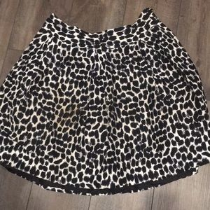 Kate Spade leopard bubble skirt